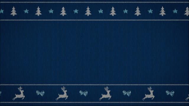 simple funny animation on sweater pattern - christmas filmów i materiałów b-roll