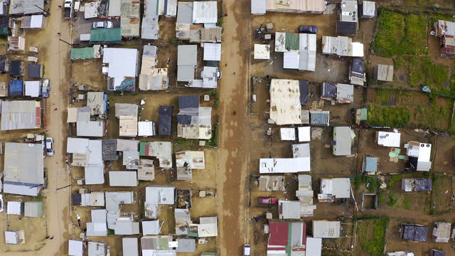 A simple life that has it's struggles 4k drone footage of a township in South Africa country geographic area stock videos & royalty-free footage