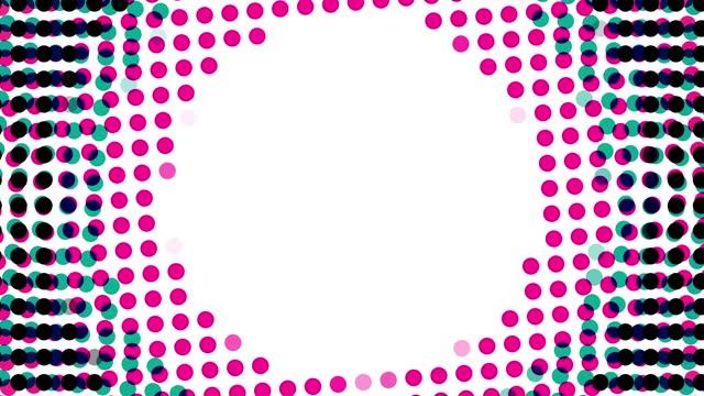 Simple polka dotabstract loop background