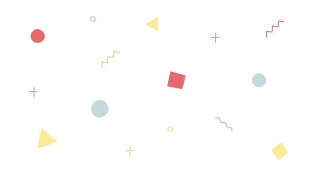 ループアニメーションの背景を移動するシンプルな形状 - 斑点点の映像素材/bロール