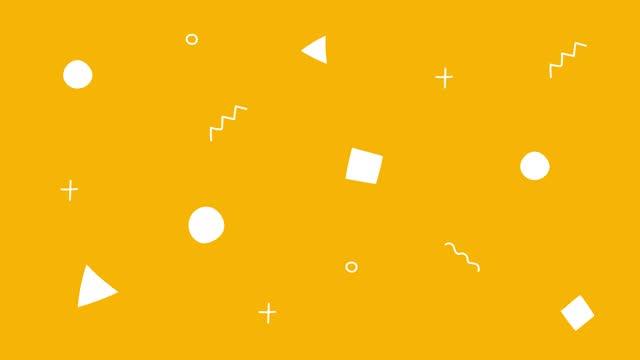 forme semplici che spostano lo sfondo dell'animazione del ciclo - elemento del design video stock e b–roll