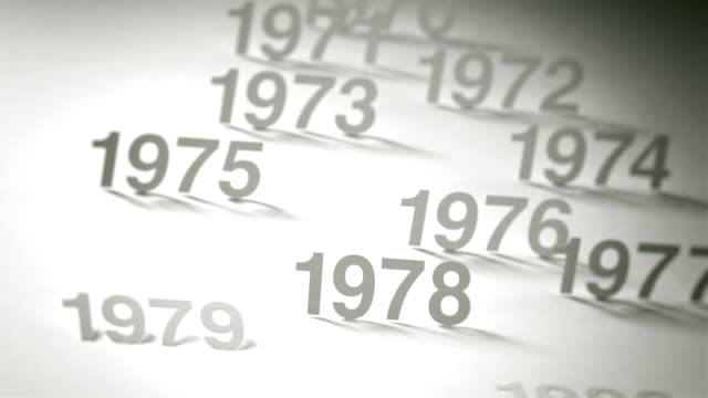 Simple Timeline Concept Animation: 1970s, 1980s and 1990s video