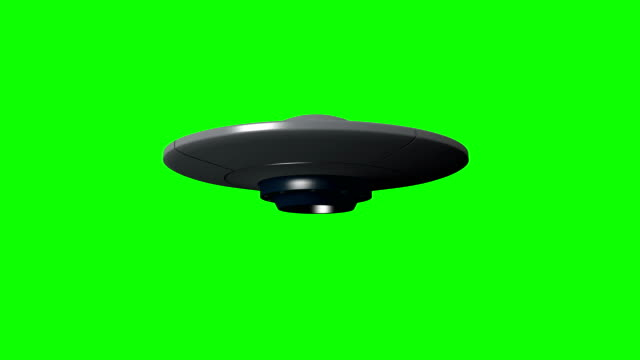 Simple UFO An animation of a hovering UFO. Set against a green background for easy removal. hovering stock videos & royalty-free footage