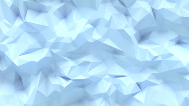 Simple white low poly loop background animation. Triangular geometric motion pattern. 4K, Ultra HD resolution