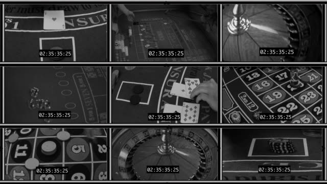 Simulated Casino Security Monitors video