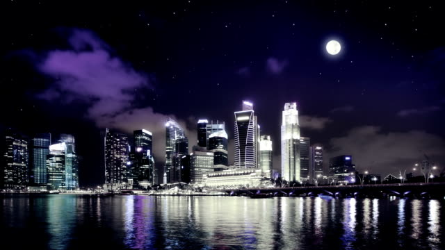 singapore by night video