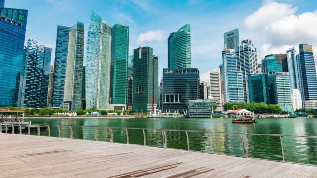 singapur şehir iş ilçe şehir merkezinin - yat limanı stok videoları ve detay görüntü çekimi