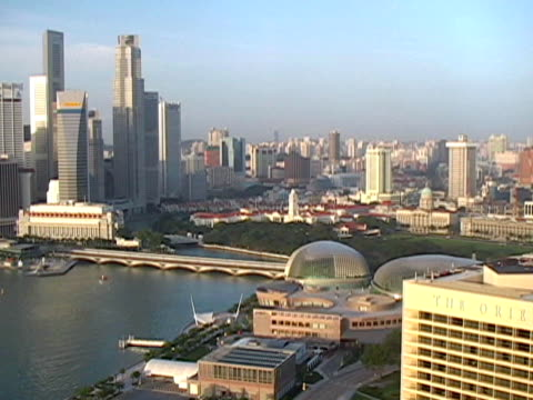 Singapore: Cityscape, Esplanade Domes and Old Post Office video