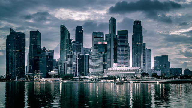 singapore crowded - black and white architecture stock videos & royalty-free footage