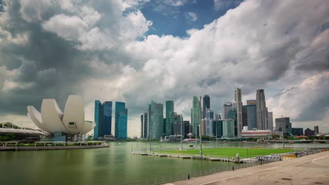 singapore day light art museum panoramic 4k time lapse