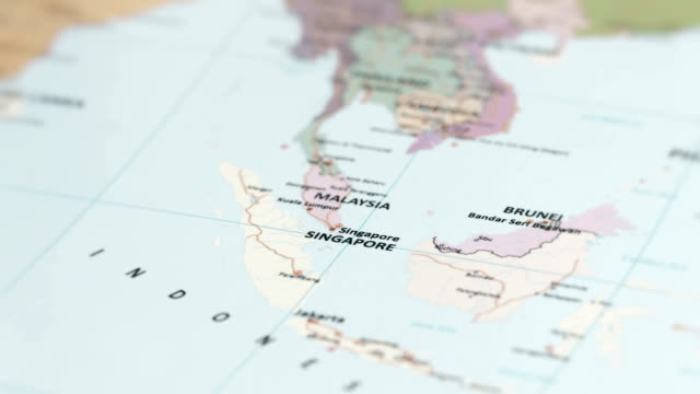 ASIA Singapore on World Map