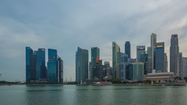 vídeos y material grabado en eventos de stock de día singapur skyline noche timelapse en lapso de tiempo de la ciudad de singapur 4k - sudeste