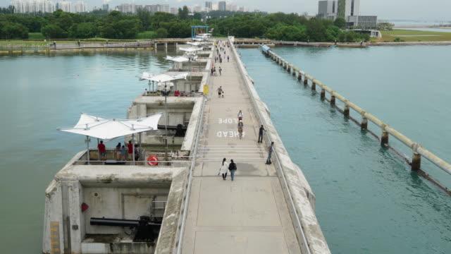 Singapore Skyline From Marina Barrage video