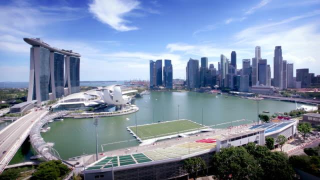 Singapore Skyline Timelapse video