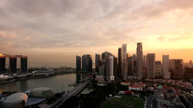 Singapore Sunset to Night Time Lapse video