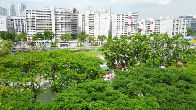 singapore's house estates - sustainable living stock videos and b-roll footage