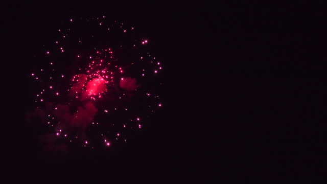 Single Explosion Starry Firework Audio Available. Leave space for your copy and other elements.. fireworks stock videos & royalty-free footage
