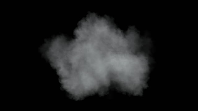 single low density cloud developing. - nebbia video stock e b–roll