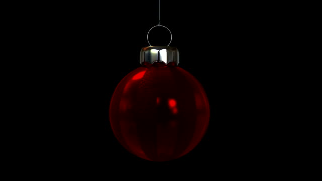 Single Red Christmas Ornament video
