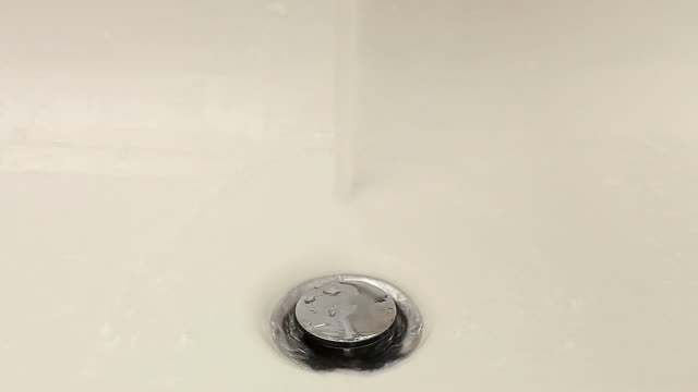 Sink plug (close up) video