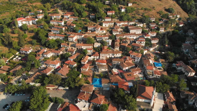 Sirince Village, Selcuk, Izmir, Turkey Şirince is a village of 600 inhabitants in İzmir Province, Turkey, located about 8 kilometres east of the town Selçuk. general view stock videos & royalty-free footage