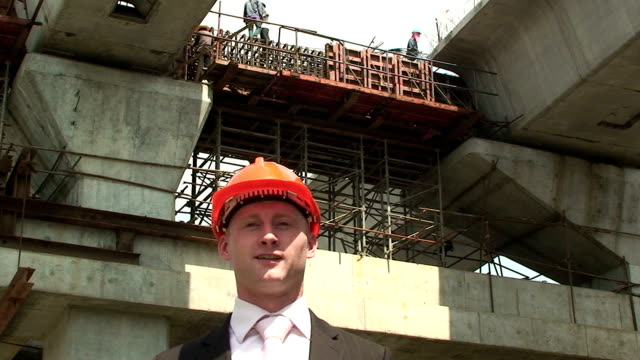 site manager A building site manager. craftsman architecture stock videos & royalty-free footage