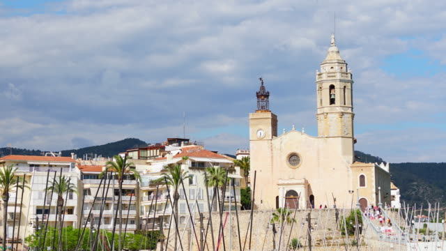 Sitges church time lapse 4K video