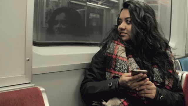 sitting on the train - wagon kolejowy filmów i materiałów b-roll