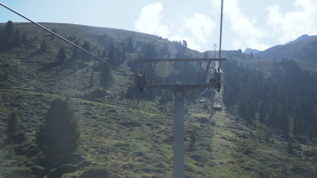 sitting view on Cable Car on Kühtai in summer, Tyrol, Austria