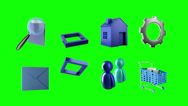 sixteen 3d animated icons video