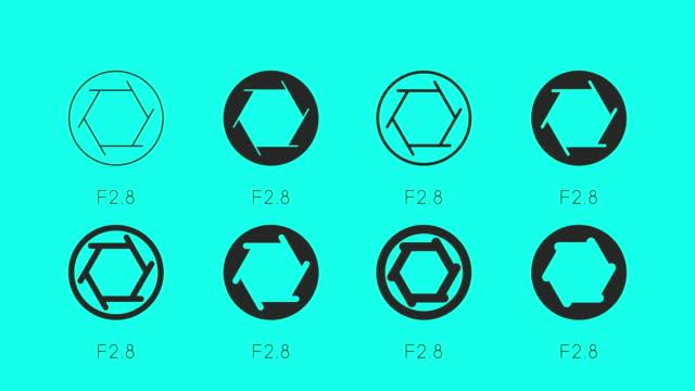 dimensione del set di icone di apertura - anima vettoriale - full hd format video stock e b–roll