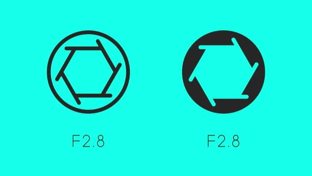 dimensioni delle icone della luce di apertura - anima vettoriale - full hd format video stock e b–roll