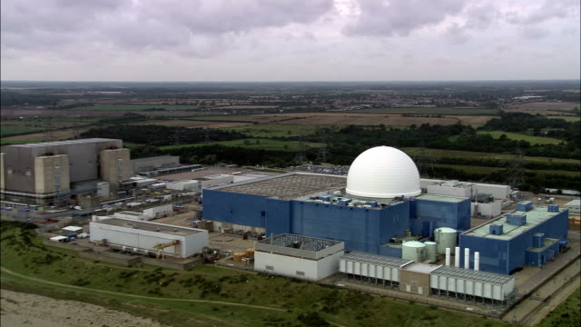 Sizewell B Nuclear Power Station  - Aerial View - England, Suffolk, Suffolk Coastal District, United Kingdom video