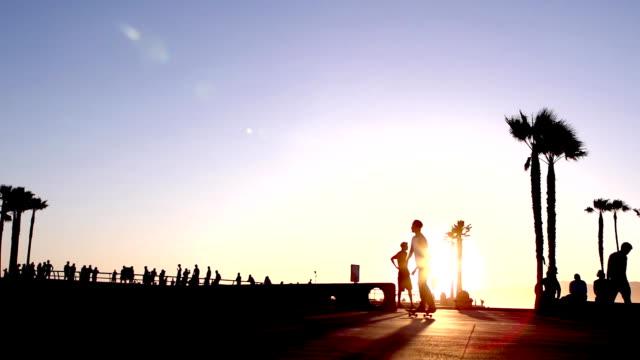 Skateboard Beach Slow Motion video