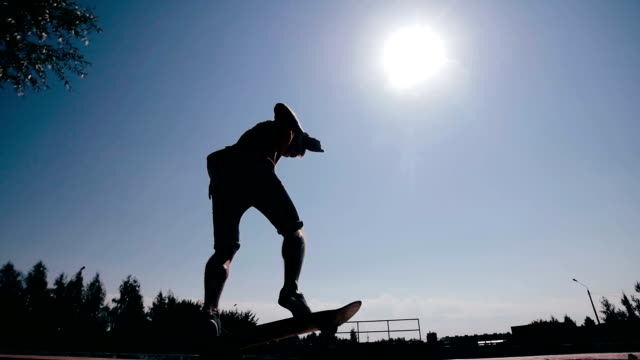 Skateboarder failed doing a trick. Motivation concept video