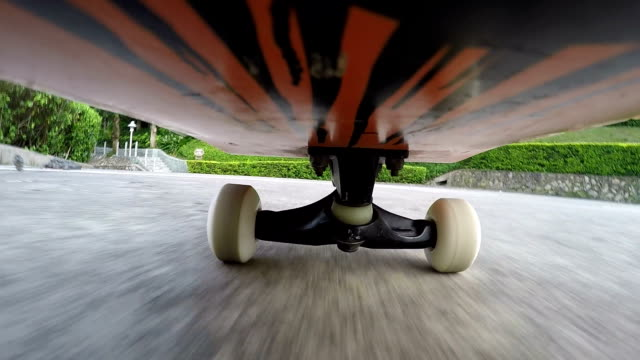 stockvideo's en b-roll-footage met skateboarding,shot on gopro action camera - gopro