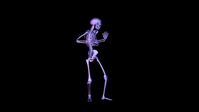 skeleton disco dancing - i̇nsan i̇skeleti stok videoları ve detay görüntü çekimi
