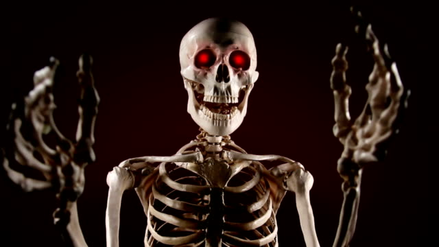 Skeleton scares video