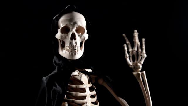 Skeleton talking and handshaking video