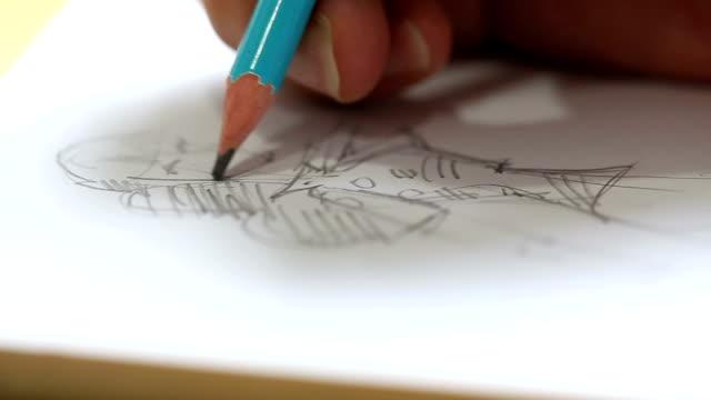skiss - blyertspenna bildbanksvideor och videomaterial från bakom kulisserna