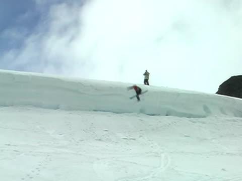 Ski crash video
