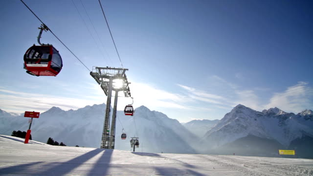 Ski lift gondola video