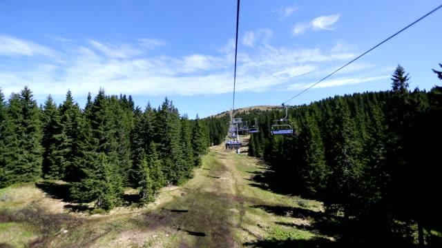 ski lift on the mountain video