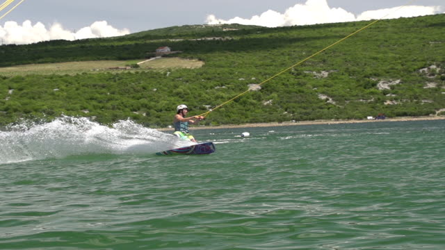 SLOW MOTION: Ski lift Wakeboarding video