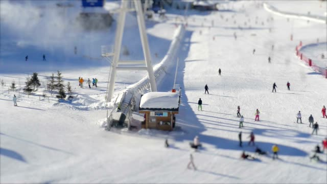Ski Piste seen from above video