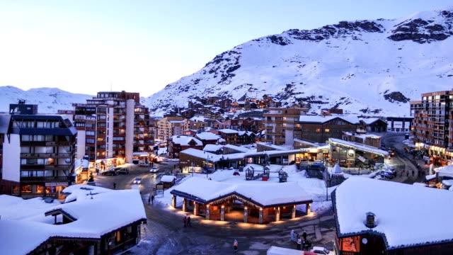 Ski Resort Dusk Time Lapse video