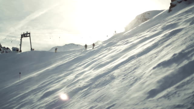 ski resort morgon aktivitet - videor med salzburg bildbanksvideor och videomaterial från bakom kulisserna