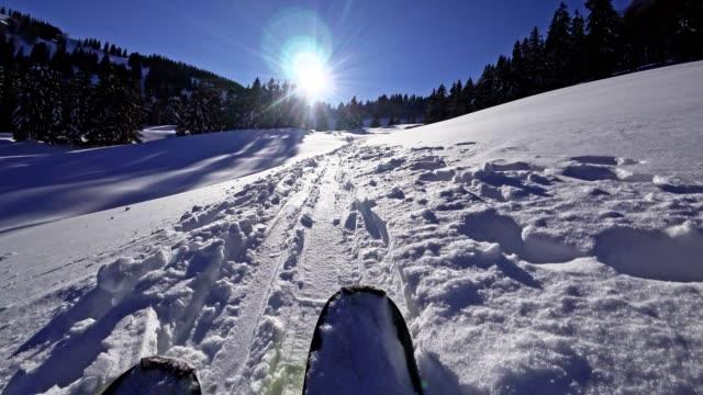 POV: ski touring in the Austrian Alps