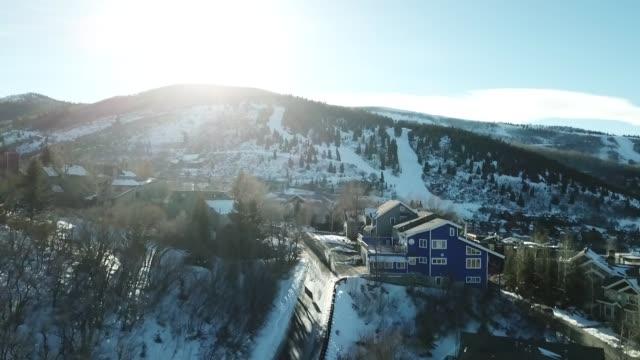 ski town - utah stock-videos und b-roll-filmmaterial