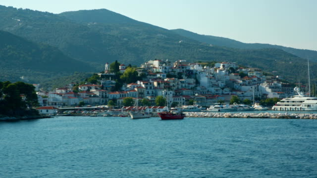 HD: Skiathos town, Skiathos island, Greece video